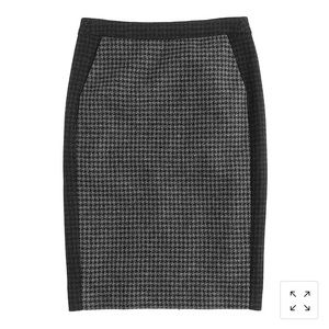 J.Crew No. 2 Pencil Skirt in Colorblock Wool